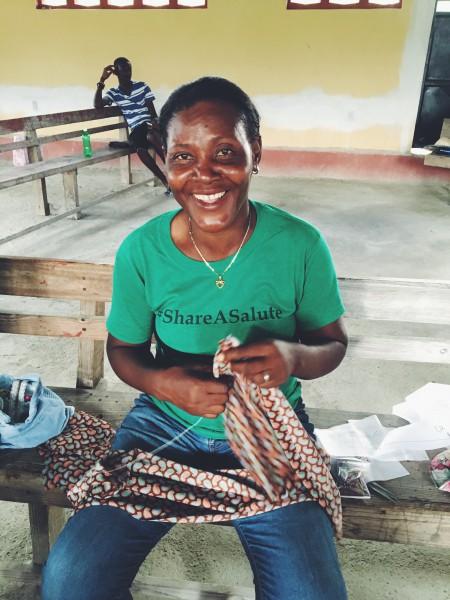 Eliante in Sewing Class